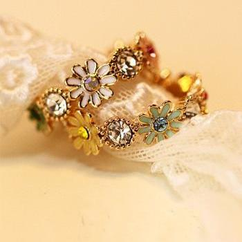 Daisy retro Baroque Pepper ring